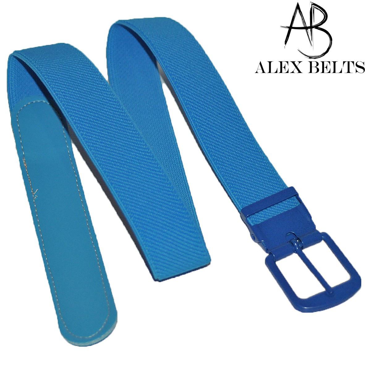 Детский ремень-резинка (темно-голубой) пряжка -шпенек 25 мм купить оптом в Одессе