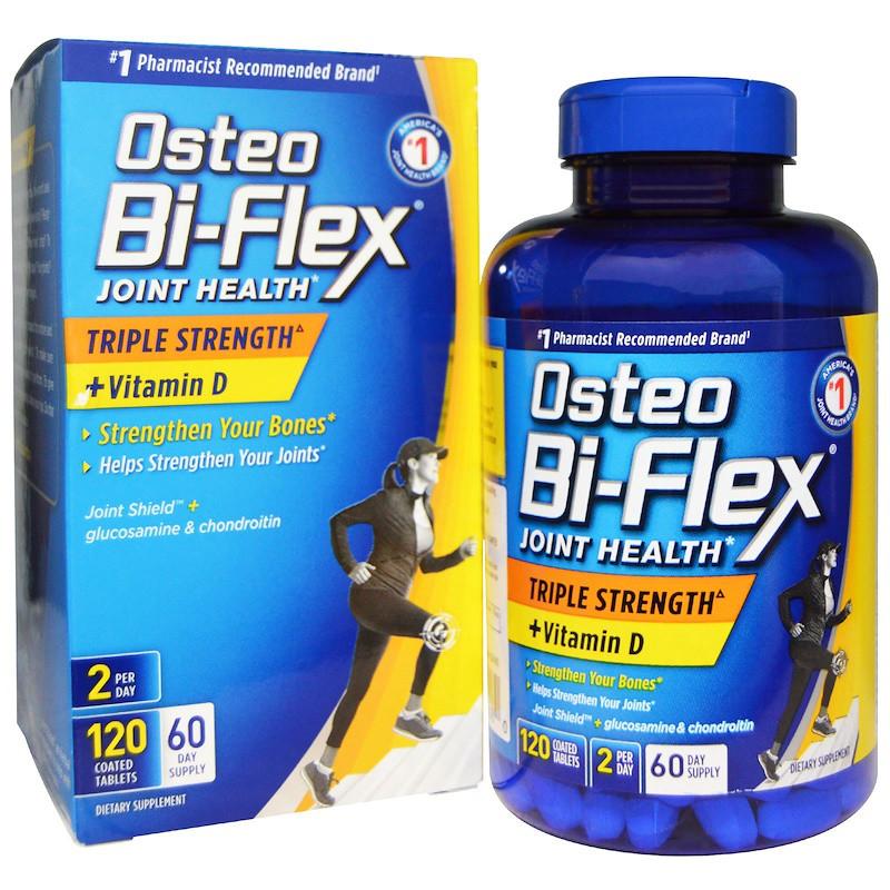 02255adf02a1c Osteo Bi-Flex, Здоровье суставов, тройная сила + витамин D, 120 таблеток