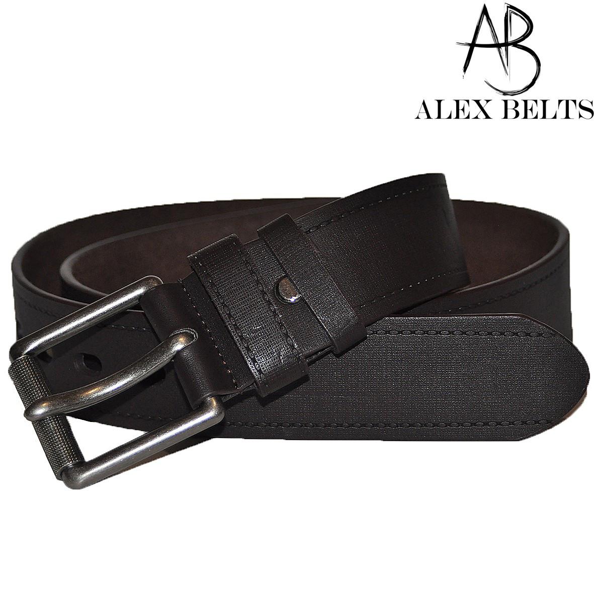Ремень мужской джинсовый(тёмно коричневый) заменитель  45 мм - купить оптом в Одессе