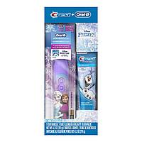Зубная щетка Disney's Frozen Oral-B + зубная паста Crest, подарочный набор, фото 1