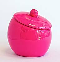 Баночка для ватных дисков Нора розовый, фото 1
