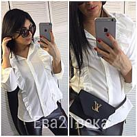 Блуза с рюшами,цвет молоко, фото 1