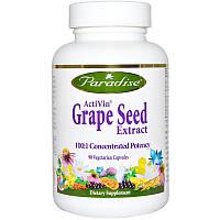 Экстракт виноградных косточек (Grape Seed), Paradise Herbs, 90 кап.