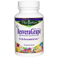 Ресвератрол, ResveraGrape, Paradise Herbs, 60 кап.