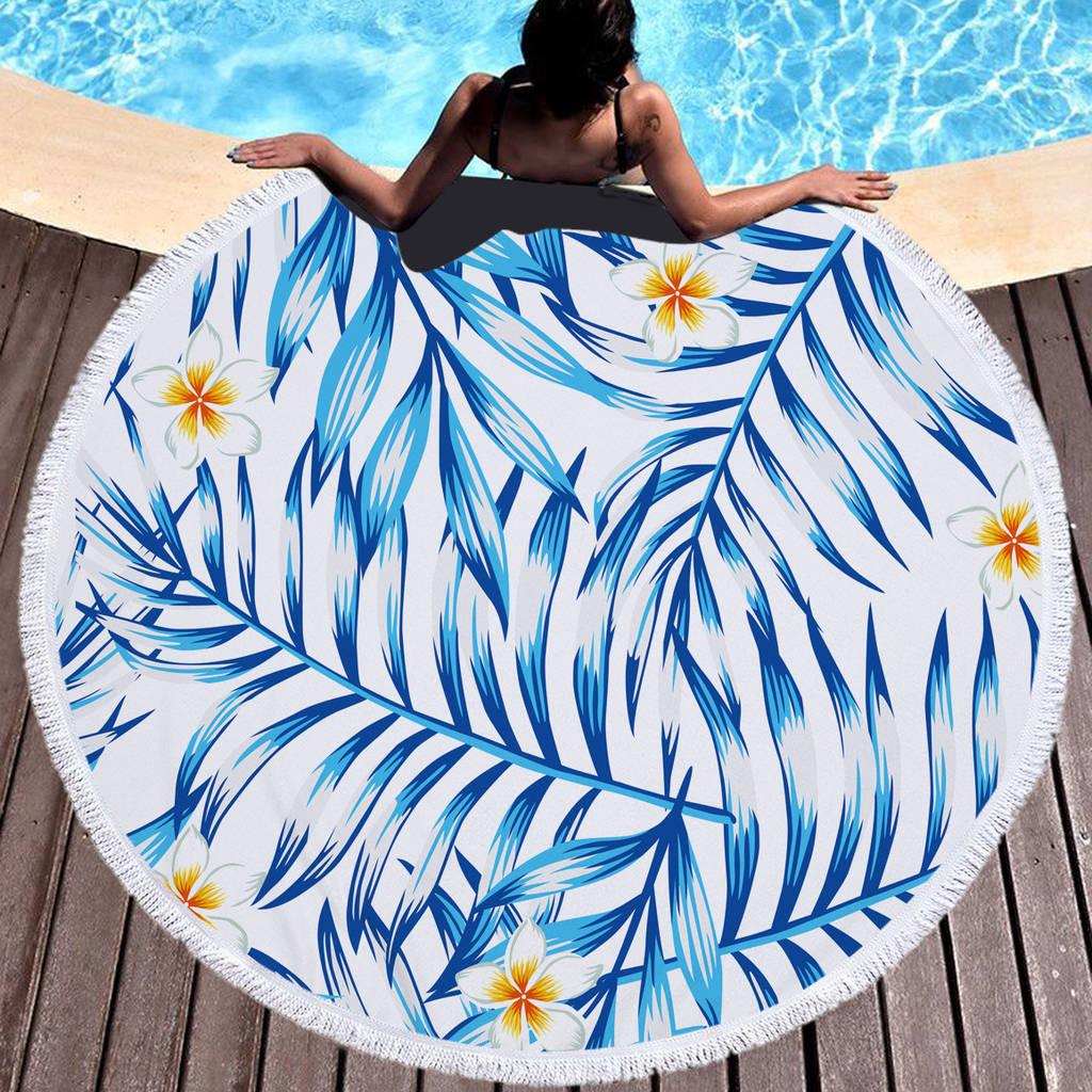 Круглое покрывало-полотенце - 30095