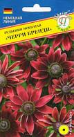 Рудбекия мохнатая Черри Бренди 10шт.,первая рудбекия с красными цветками.