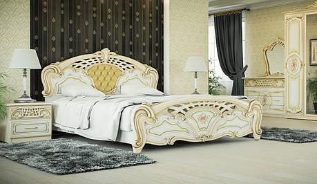 Кровать двуспальная в классическом стиле  Кармен новая люкс   Світ меблів, фото 2