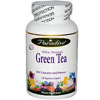 Paradise Herbs, Yellow Mountain Зеленый чай 120 овощных капсул