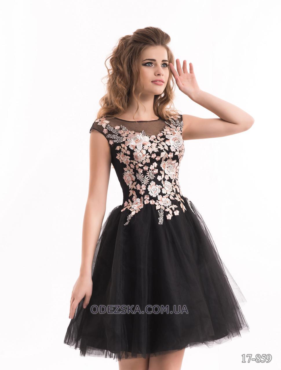 Женское короткое красивое выпускное платье новинка