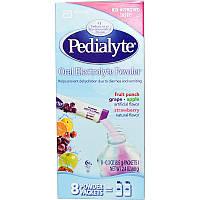 Pedialyte, Порошок-электролит для рта, ассорти, 8 пакетиков с порошком по 0.3 унций (8.5 г)
