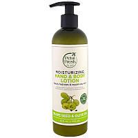 Petal Fresh, чистый, увлажняющий лосьон для рук и тела, масло оливковых косточек и оливковое масло, 12 ж. унц.(355 мл)