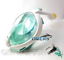 Полнолицевая маска Bs Diver Profi Dry бирюзовая