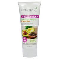 Petal Fresh, Botanicals, Маска для сияния кожи лица из белой глины, Авокадо и зеленый чай, 7 ж. унций (200 мл)