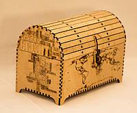 Раскладной сундук-шкатулка из дерева ручной работы