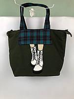 Сумка Miss Zapatos (ботинки,темно зеленая)