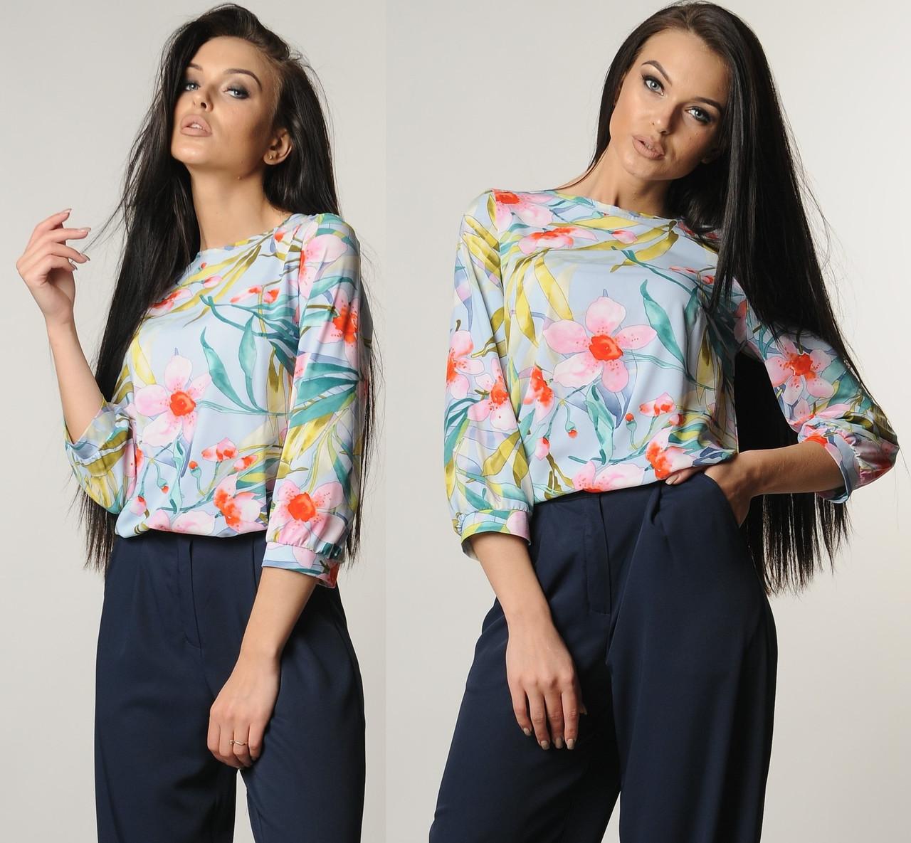 19fd71940c6 Шифоновая блузка женская летняя блуза трикотажная тонкая 52 - Интернет  магазин Sport-sila.com