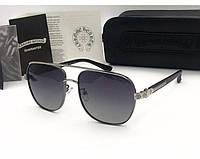 Солнцезащитные очки в стиле Chrome Hearts (5074) grey