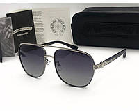 Солнцезащитные очки в стиле Chrome Hearts (5074) grey, фото 1