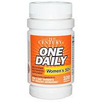21st Century, One Daily, для женщин 50+, мультивитамины и мультиминералы, 100 таблеток  21st Century, One Dai