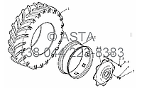 Задние колёса на YTO-X704