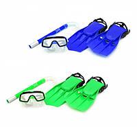 Детский набор для плавания с ластами и маской