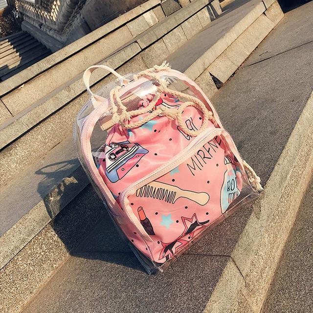 Прозрачный силиконовый рюкзак