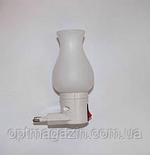 Ночник светодиодный с выключателем белая роза