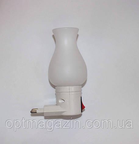 Нічник світлодіодний з вимикачем біла троянда, фото 2