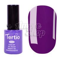 Гель-лак Tertio №123 (темный пурпурный, эмаль), 10 мл