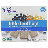 Печенье для прорезывания зубов, Teething Wafers, Plum Organics, 18 шт