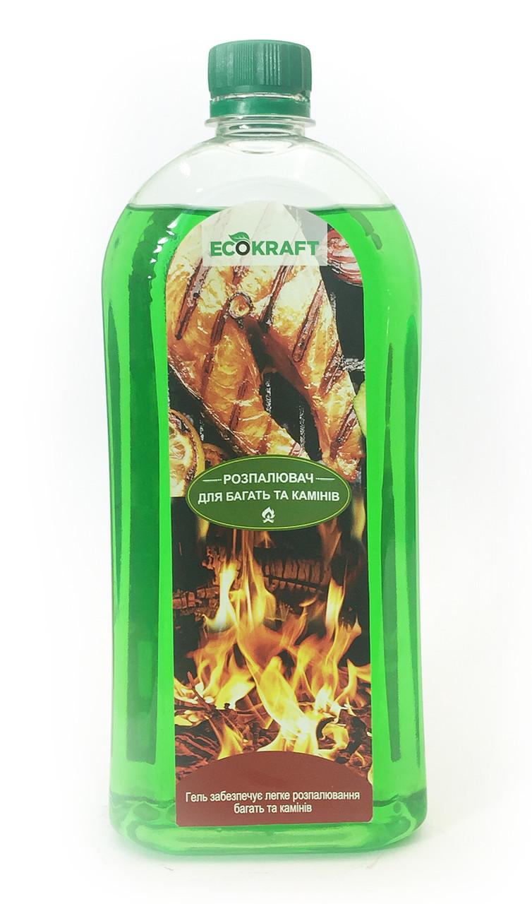 Гелевый розжигатель EcoKraft для костра 1л гелевый разжигатель для костра купить