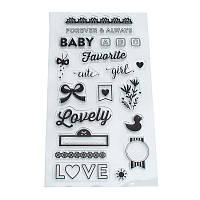 Lovely детское Forever Always Words Шаблон Прозрачный прозрачный Силиконовый Резина Печать Бумажная художественная вырезка