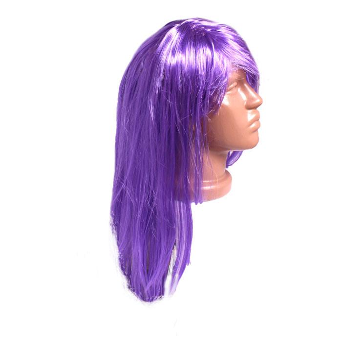 Парик фиолетовый, длинный