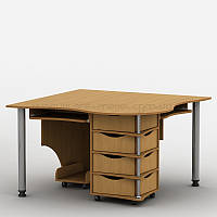 Компьютерный угловой стол на 2 рабочих места Тиса-4