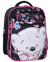 Школьный ортопедический рюкзак Bagland для девочки чёрный