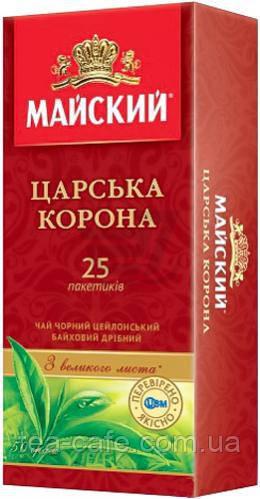 Чай чорний Майский Царська Корона 25 пак.