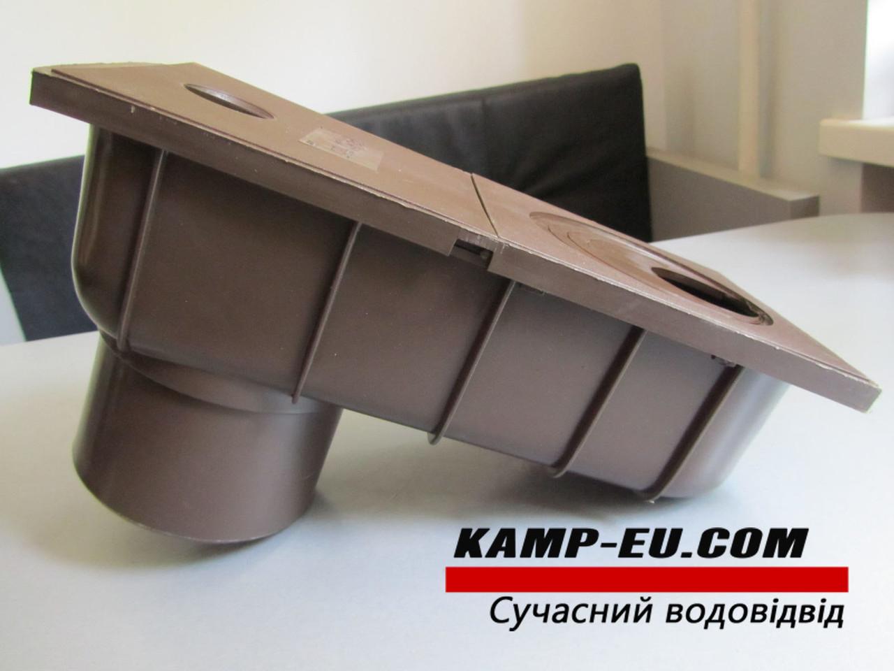 Дождепремник 110мм, коричневый боковой выход