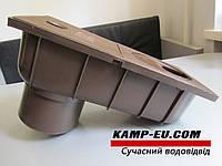 Дождепремник 110мм, коричневый боковой выход, фото 1