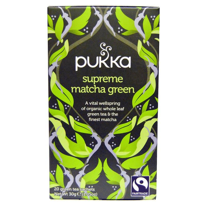 Pukka Herbs, Supreme Matcha Green, 20 Green Tea Sachets - 1.05 oz (30 g) Each