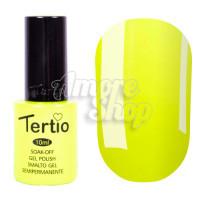 Гель-лак Tertio №127 (неоново-желтый, эмаль), 10 мл