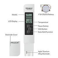 Прибор для измерения общей минерализации воды. TDS & EС-metr (hold)