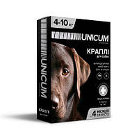 Капли от блох и клещей на холку для собак Unicum premium (Уникум премиум) 4-10 кг