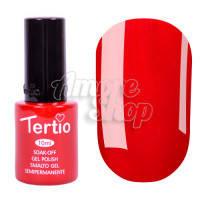 Гель-лак Tertio №128 (классический красный, эмаль), 10 мл