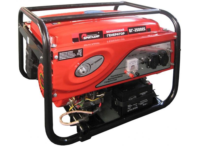 Бензиновый генератор Бригадир БГ2500ES.Электро стартер