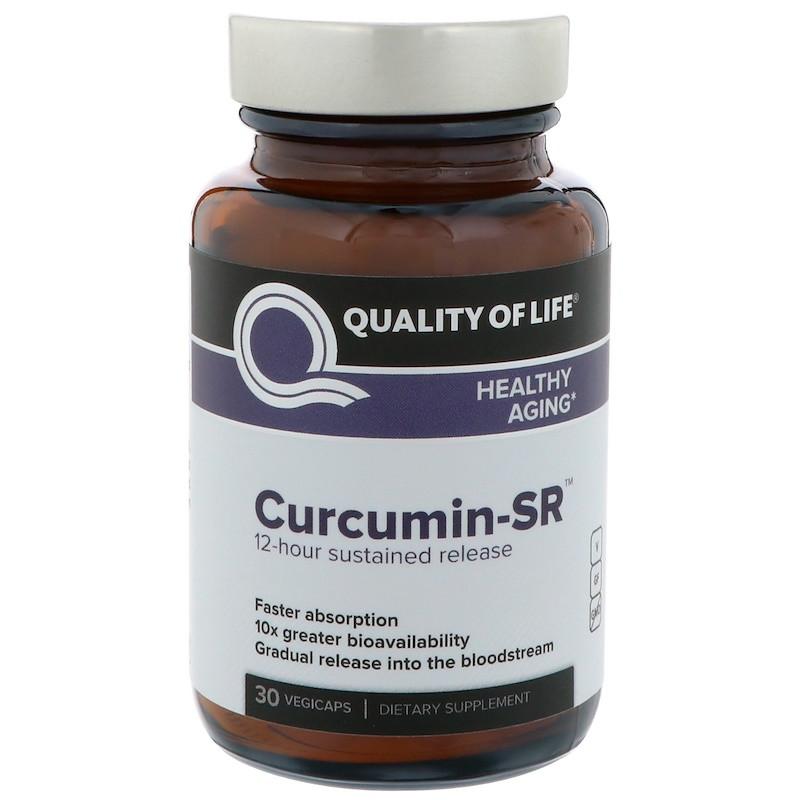 Куркумин, Quality of Life Labs, 125 мг, 30 капсул