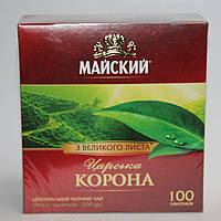 Чай черный Майский Царская Корона 100 пак.