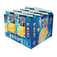 Quest Nutrition, Протеиновые чипсы с морской солью, 8 пакетиков по 32 г
