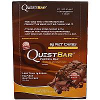 Quest Nutrition, Questbar, Protein Bar, Chocolate Brownie, 12 Bars, 2.12 oz (60 g) Each