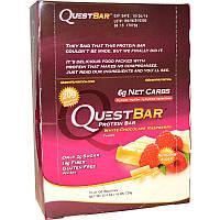 Quest Nutrition, Questbar, Protein Bar, White Chocolate Raspberry, 12 Bars, 2.1 oz (60 g) Each