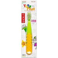 RADIUS, Зубная щетка для детей от 3 лет Totz Plus, зеленая/желтая, 1 зубная щетка